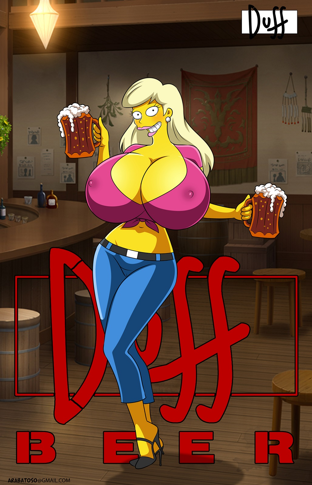 naked marge from the simpsons Fat guy in daisy dukes