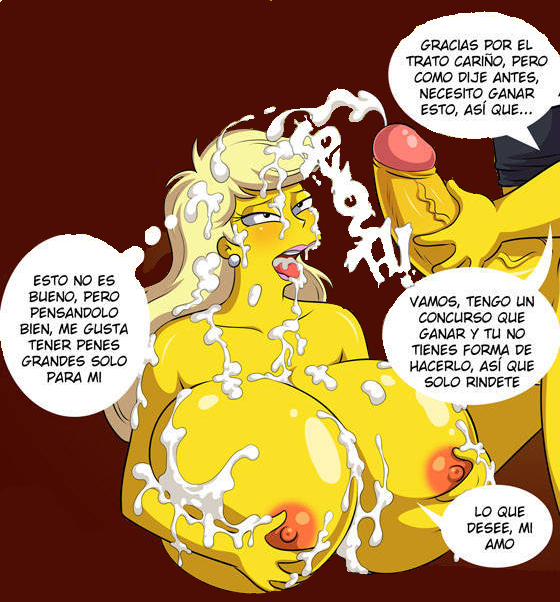 from simpsons naked marge the Sky stinger and vapor trail